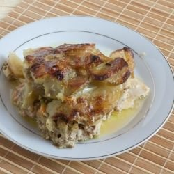 Juicy Chicken with Potatoes and Mushrooms