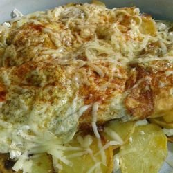 Potatoes with Eggs and Cheese
