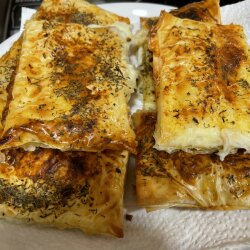 Oven-Baked Cheese in Filo Pastry Sheets