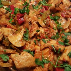 Korma with Pork, Mushrooms, Onions and Peppers