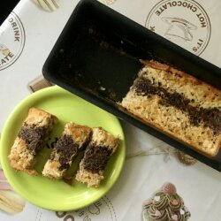 Coffee Two-Color Sponge Cake for Diabetics