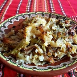 Sauerkraut Dish with Rice and Chicken