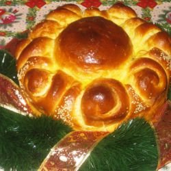 Christmas Round Loaf with Spirals