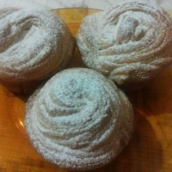 Cruffins with Powdered Sugar