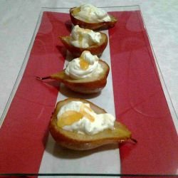 Pears with Mascarpone and Honey