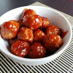 Meatballs with a Honey-Garlic Glaze