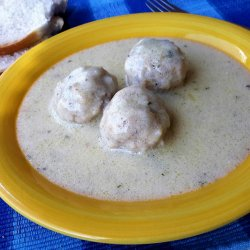 Economical Meatballs with White Sauce