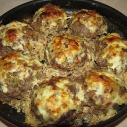 Meatballs in the Oven with Yoghurt and Cheese