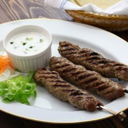 Moroccan Skewers with Yoghurt