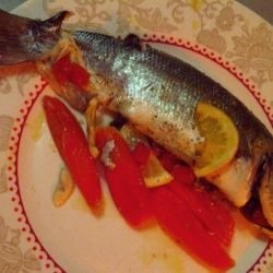 Oven Baked Sea Bass with Tomatoes
