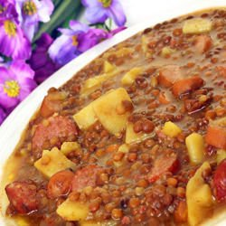 Lentils with Sausage and Potatoes