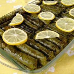 Turkish Sarma with Vine Leaves