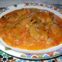 Onion Stew with Meatballs