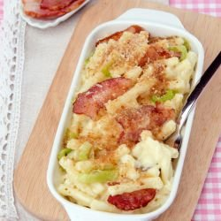 Macaroni with Leeks