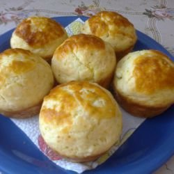 Soft Muffins with Feta Cheese and Cheese