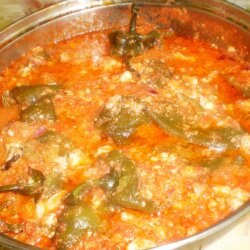 Pepper Stew with Tomato Sauce
