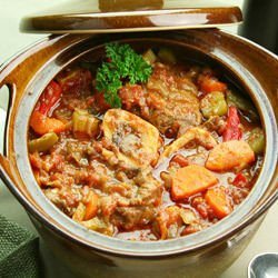 Stew with Pork and Okra