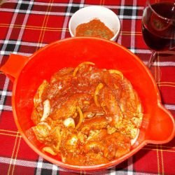 Aromatic Marinade for Pork with Wine