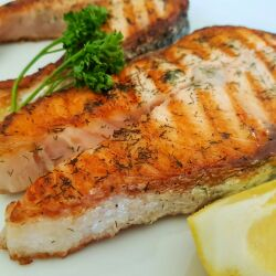 Pan-Grilled Marinated Salmon Cutlets