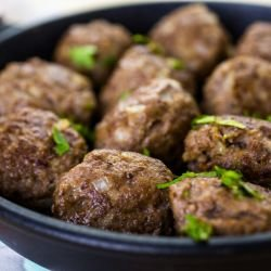 Oven-Baked Meatballs with Beer