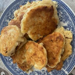 Fried Cakes with Feta Cheese