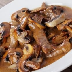Tender Pork Loins with Boletus Mushrooms