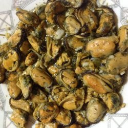 Delicious and Fragrant Mussels in a Pan