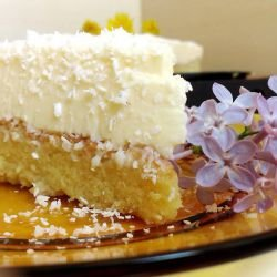Milky Sponge Cake with Light Raffaello Cream