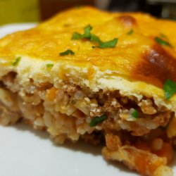 Exquisite Vegetable Moussaka with Rice
