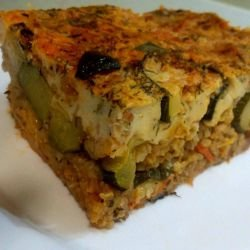 Rice and Zucchini Moussaka