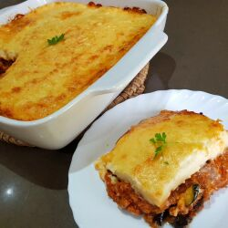 Greek Moussaka with Zucchini, Eggplant and Minced Meat