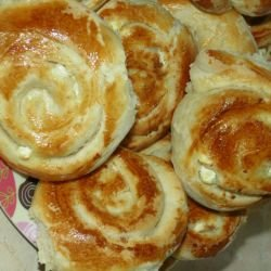 Spirals with Feta Cheese and Olive Oil