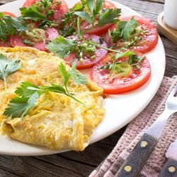 Omelette with Peppers and Cheese