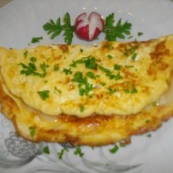 Omelette with Feta Cheese and Cheese