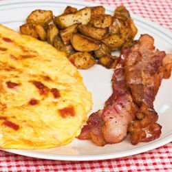 Omelette with Onions and Bacon