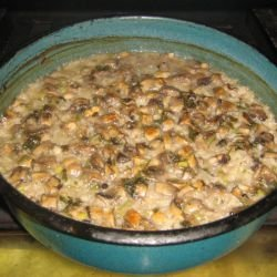 Grandma`s Oven-Baked Rice with Mushrooms