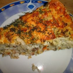 Oven-Baked Rice with Zucchini and Topping