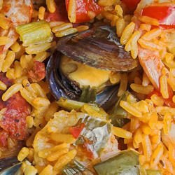 Mussels with Rice in the Oven