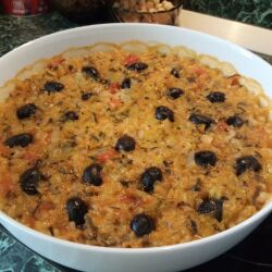 Leeks with Rice and Olives