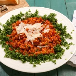 Orzo in Tomato-Cream Sauce