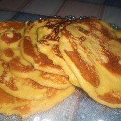 Fluffy Pancakes with Feta Cheese