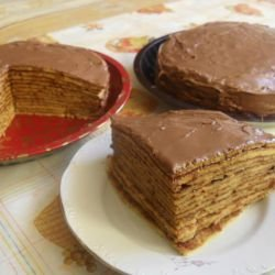 Pancake Cake with Chocolate Cream