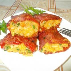 Lean Stuffed Peppers with Potatoes