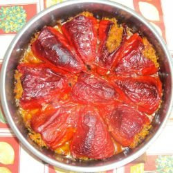 Stuffed Red Peppers with Rice
