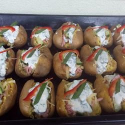 Stuffed Whole Potatoes in the Oven