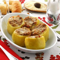 Stuffed Peppers in Puff Pastry