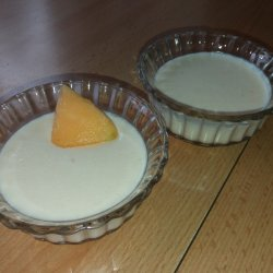 Sugar-Free Melon Panna Cotta