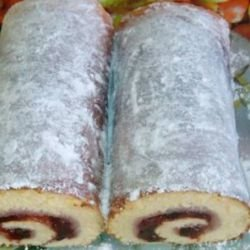 Easy Sponge Cake Roll with Strawberry Jam
