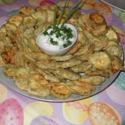 Breaded Zucchini with Dill and Garlic Yoghurt