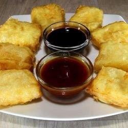 Breaded Processed Cheese in Phyllo Pastry Sheets